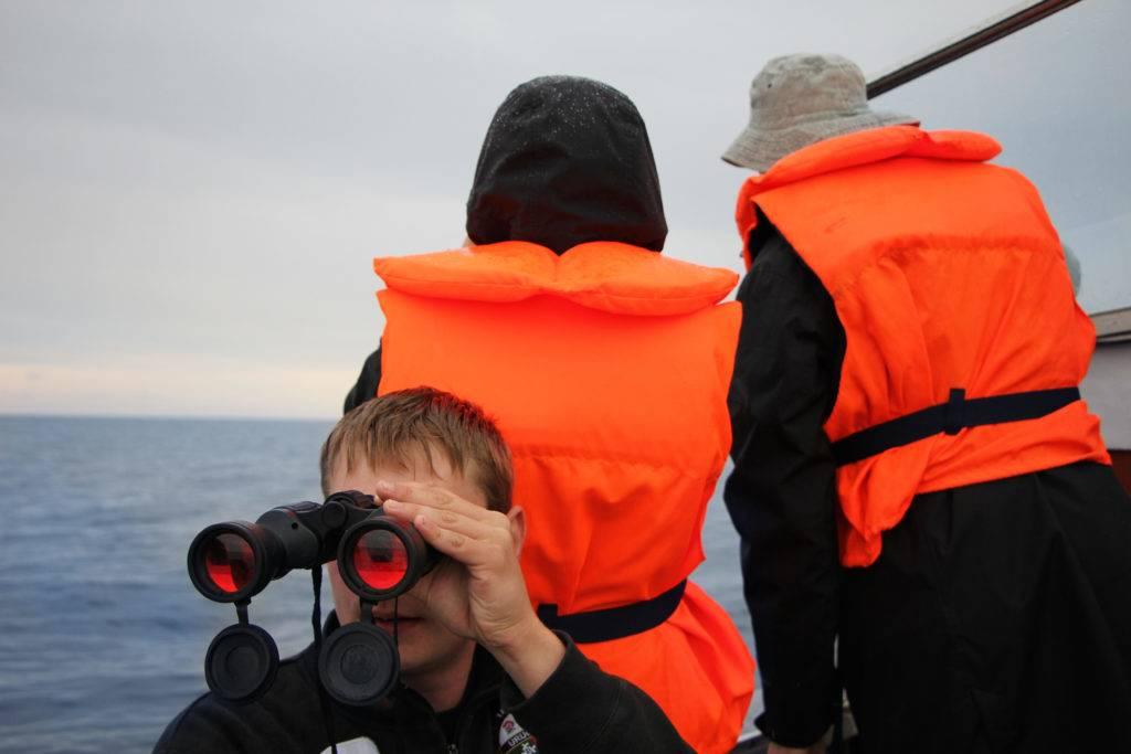 Nichts für empfindliche Mägen: Hart schlägt das kleine Robbenbeobachtungsboot nach jeder Welle auf. Wer sein Regencape vergisst, wird ordentlich nass – insgesamt dauert so eine Tour mit zwei bis drei Stopps ungefähr zwei Stunden. @ Jessica Mintelowsky