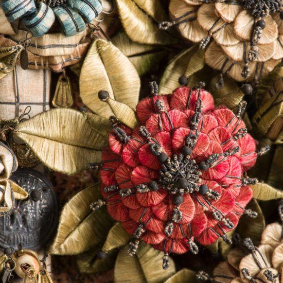 """Detail aus einem """"verschlossenen Garten"""", einem Schrank-Altar aus dem 16. Jahrhundert"""